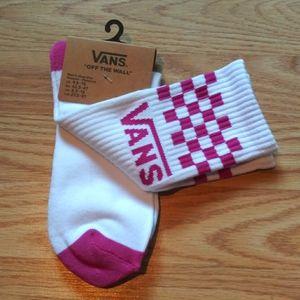 NWT Vans Men's Socks White & Purple